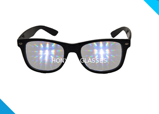 चीन Rainbow Spiral Plastic 3d Diffraction Glasses For New Year Rave Parties आपूर्तिकर्ता