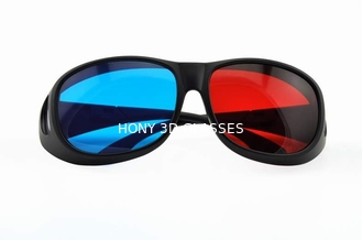 Foldable Plastic Red Cyan Anaglyph 3D Glasses For Normal Tv Or Computer
