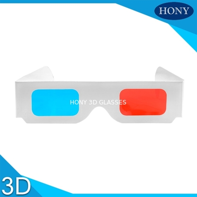 चीन Popular anaglyph 3d glasses red cyan For Normal PC / 3D Books And 3D Magazines फैक्टरी